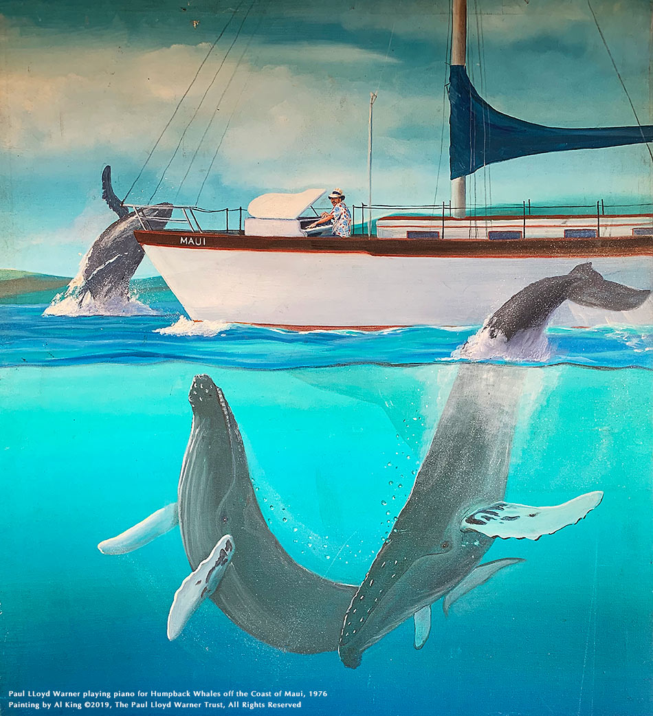 Al-King-painting-of-PLW-playing-for-Humpback-Whales-C